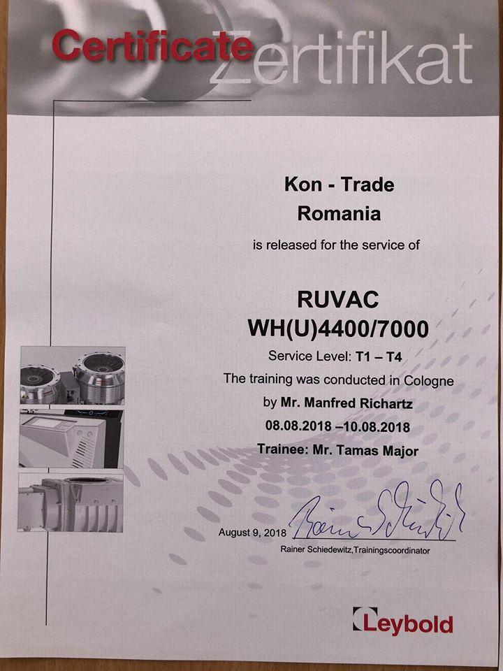 Kon-Trade - Service pompe de vid si detectoare de heliu